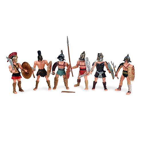 BOHS Mittelalterliche spartanische Armeekrieger Rom Empire Gladiator Soldaten mit Waffe oder Schild Actionfiguren…