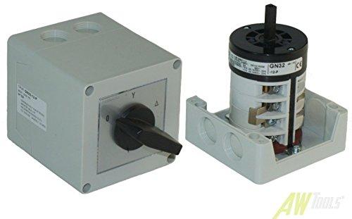 32A Stern-Dreieck-Schalter gekapselt 11 kW IP65 Industrieschalter GN 32-12-P