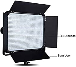 Idobol D-2000 High Power 1724 LED Continuous Lighting, 140W 11000 Lumen Studio Video Photography Light Panel with Barndoor and Filters, DMX Compatible