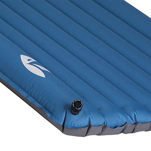 Zajo lichte campingmat, isomat, luchtmatras, Air 8cm, regular 183x52cm, camp bed, campingbed voor camping, trekkingtochten, tenten, huttenwandelingen, kleine pakmaat 23 x 11cm