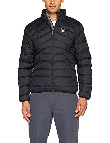 Spyder Herren Geared Full Zip Synthetic Jacke, 001 Blk, XXL (777)