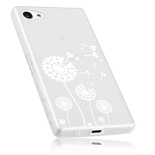 mumbi Hülle kompatibel mit Sony Xperia Z5 Compact Handy Case Handyhülle mit Motiv Pusteblume, transparent