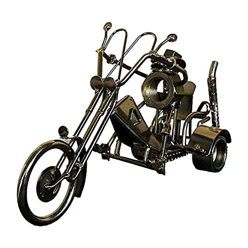 HomeDecTime Modelo de Motocicleta Adorno de Moto Retro Juguete de Moto Regalos de Artesanía de Hierro