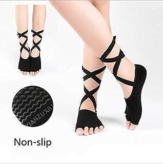 المرأة اليوغا نصف اصبع القدم عدم الانزلاق بيلاتيس باليه رياضة الجوارب السيدات الجوارب الرياضية
