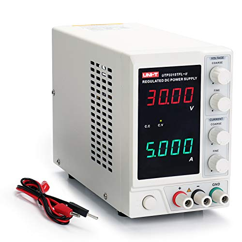 UNI-T 30V 5A Linear Power Supply, UTP3315TFL-II Regulated Bench Power Supply, 4 Digital LED with...