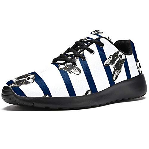 Zapatillas deportivas para correr para mujer, diseño de rayas, de malla, transpirables, para senderismo, tenis, color, talla 38 EU