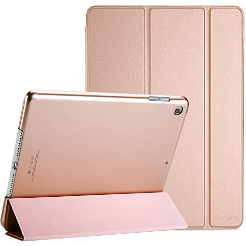 ProCase iPad 10.2 Inch Case 2020 2019 (8th /7th Generation), Slim Lightweight Protective Case Smart Cover,for iPad 8 / iPad 7 (Model: A2270,A2428, A2429, A2430,A2197, A2198,A2200) –Rosegold