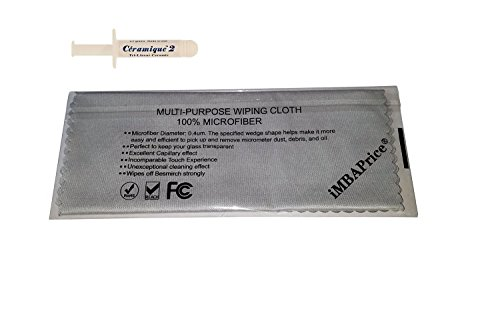Arctic Silver 2.7 Grams Thermal Compound( CMQ2-2.7G-MF) with MicroFiber Cleaning Cloth