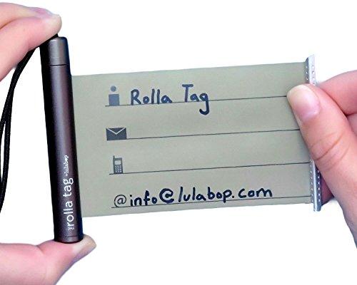 Lulabop Reise-Etikett für Gepäck, Koffer, Rucksack, Gepäck & Lunch-Boxen, persönliche persönliche persönliche Informationen aus Aluminium, braun (Braun) - 200BRO