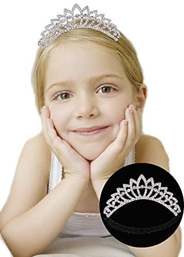 Tiara Corona de Cristal con Diamantes de imitación Peine para Corona Nupcial...