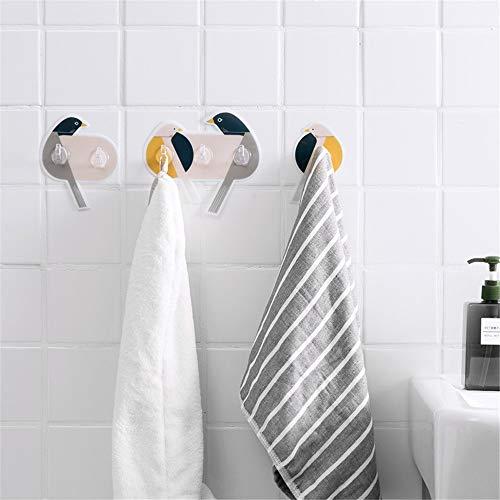 Gancho para ropa Gancho impermeable sin fisuras pegajosa for el baño, la cocina, pared toalla ganchos, gancho de la suspensión de techo ganchos para colgar ropa ( Color : Multi-colored , Size : 1 )