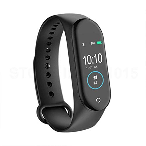 N-B Pulsera inteligente de pantalla a color, resistente al agua, presión arterial, frecuencia cardíaca, modo de ejercicio, información recuerda a la pulsera de salud
