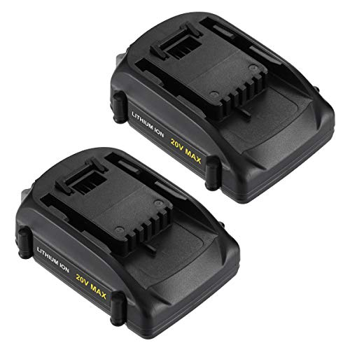 2-Pack 3000 mAh 20V Battery Replacement for Worx WA3520 WA3525 Battery for Worx WG151s, WG155s, WG251s, WG255s, WG540s, WG545s, WG890, WG891 Cordless Tools Battery