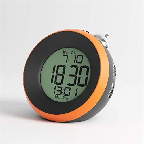 High song Despertador Reloj Despertador Circular LED Control Relojes De Escritorio Electrónicos Digitales Luz De Noche Batería Reloj Despertador Decoración De Mesa (Color : 1)