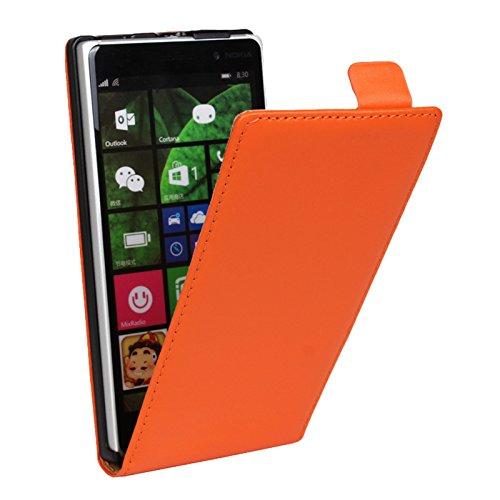 Eximmobile Flipcase Handytasche Etui Tasche für Microsoft Lumia 550 Orange