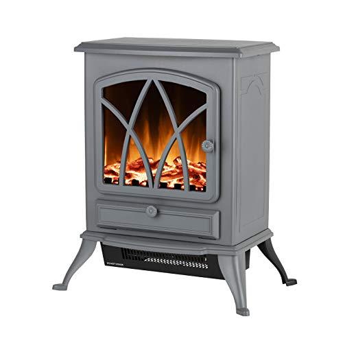Warmlite WL46018G Stirling 2KW Electric Fire Stove, 2000W, Grey