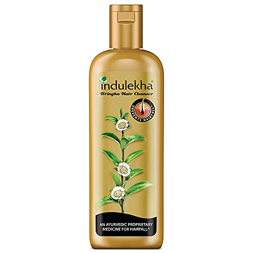 Indulekha Bringha Shampoo, Ayurvedic Medicine For Hair Fall, Free From Parabens, Synthetic Dyes And Synthetic Perfume, 200ml