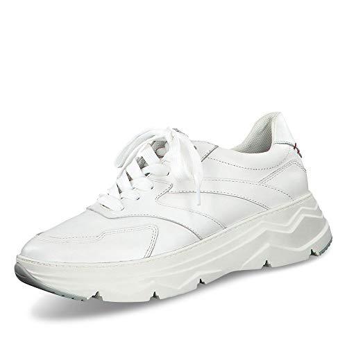 s.Oliver Damen Schnürhalbschuhe 23656-24, Frauen sportlicher Schnürer, Ugly-Sneaker dad-Shoe Chunky-Sneaker weibliche,White Nappa,42 EU / 8 UK