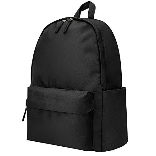 Vorspack Backpack Lightweight Backpack for College Travel Work for Men and Women - Black