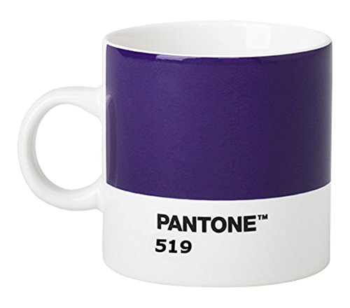 Copenhagen design 101040519 Pantone Espresso, Small Coffee Cup, Fine China (Ceramic), 120 ML, Purple, Porcelaine, Violet 519, One Size