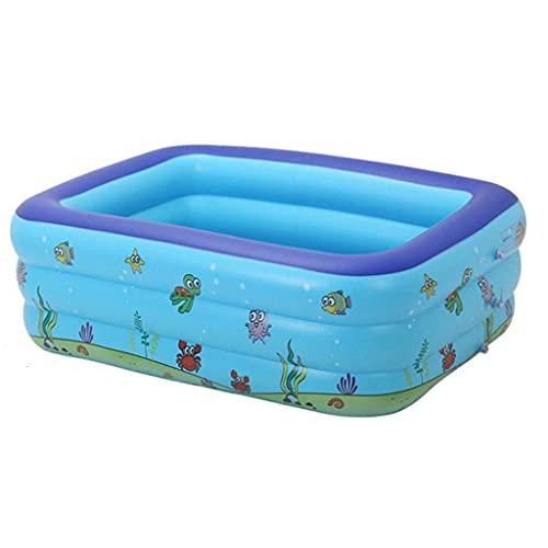 Jieer Familie Zwembad, Opblaasbaar Kinderen Zwembad Groot Formaat Opblaasbaar Vierkant Draagbare Outdoor Baby Wastafel Bad Kinder Zwembad Baby Zwembad