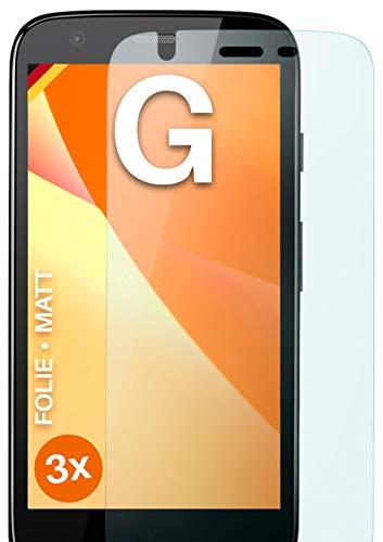 moex Schutzfolie matt kompatibel mit Motorola Moto G - Folie gegen Reflexionen, Anti Reflex Bildschirmschutz, Matte Bildschirmfolie - 3X Stück
