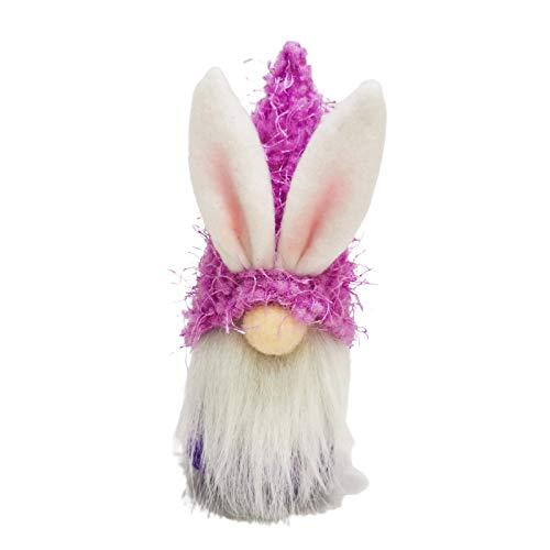 fuchsiaan Cute Faceless Plush Gnome Dwarf Doll, Simulation Bunny Supplies Rabbit Hug Egg Household Stuffed Doll Ornaments for Easter Christmas Home Decor, Kids Gift Purple
