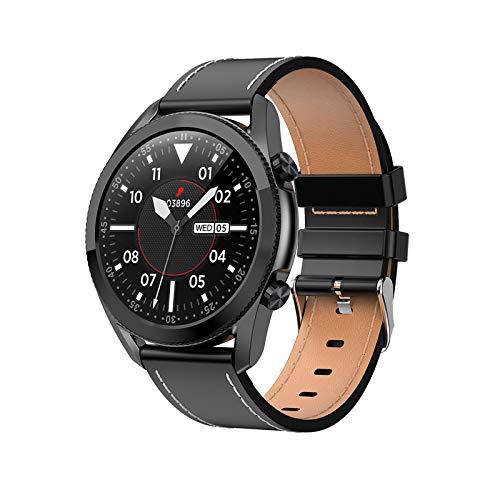 FMSBSC Reloj Inteligente Mujer Hombre Smartwatch Llamadas Bluetooth Deportivo Rastreador Actividad Reloj Inteligente Pantalla Táctil Completa IP67 Impermeable Compatible con Android iOS,Black b