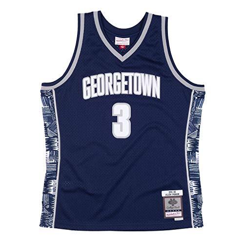 Mitchell & Ness Allen Iverson #3 Georgetown Hoyas 1995-96 Swingman NCAA Trikot Navy, M