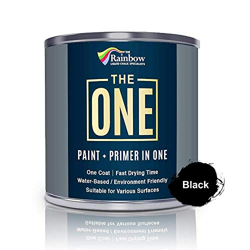 The One Paint Matte 250ml - Multi Surface Paint - No Undercoat or Primers required (Black)
