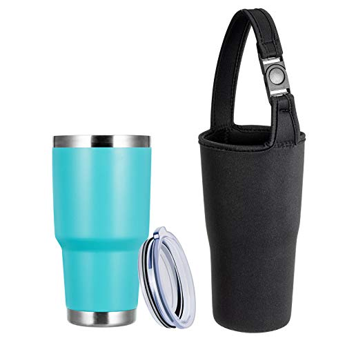 TUMZAK 30oz Stainless Steel Coffee Tumbler Double Wall Vacuum Insulated Travel Mug with Lid Powder Coated Coffee Cup for Cold or Hot Drinks Blue1 Pack