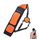 SHARROW Bogenschießen Pfeilköcher Rückenköcher Pfeile Halter mit Verstellbarem Schultergurt Köcher für Pfeile Tasche Bogensport Zubehör (Orange)