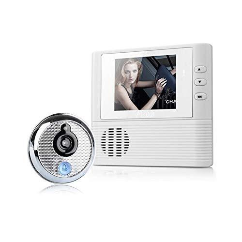 LXJ Deurbel draadloos, Video Deurbel, HD WiFi Deurbel Draadloos met, HD Smart Draadloze Walkie-talkie Smart Deurbel, Peephole Viewer Camera+deurbel Functie, Ondersteuning om Beeld op te slaan