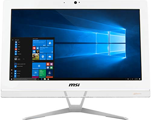 MSi Pro 20EXTS 7M-043XEU all-in-one desktop pc, HD-monitor met 49,5 cm (19,5 inch), Intel Core i3-7100, RAM 4 GB DDR4, SSD-harde schijf 128 GB, Intel HD Graphics 630, zonder besturingssysteem, wit