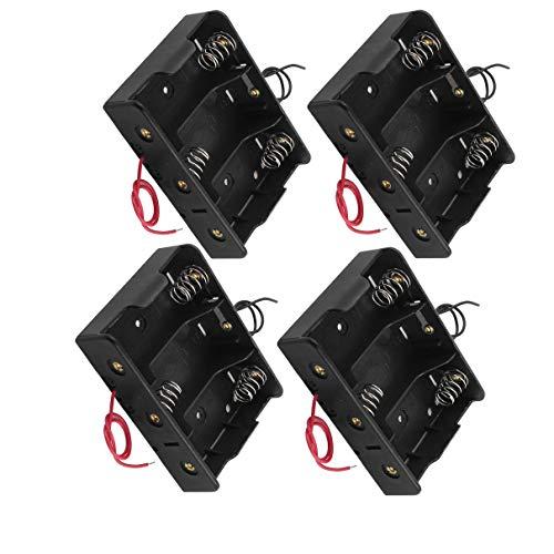Aexit 4 Stück 3 x C 1,5 V-Batterien Batteriehalter-Gehäuse mit 5,7' 'Kabel (c5e9b38d59dde3b283c144af0806c393)