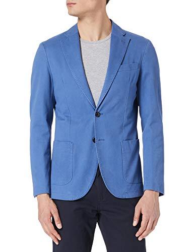 Cortefiel Americana de algodón Lavada Blazer, Azul Medio, 52 para Hombre