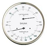Sauna-Thermohygrometer, Edelstahlgehäuse, Ø 130 mm -