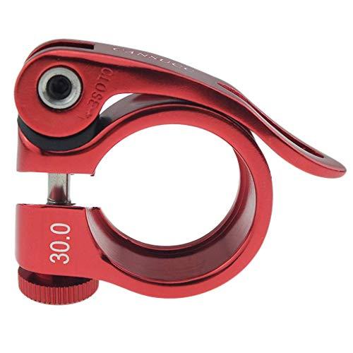 ZHTY Abrazadera de tija de sillín de aleación de Aluminio - Abrazadera de sillín de Bicicleta MTB de liberación rápida - Piezas de Bicicleta de 30 mm de diámetro