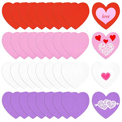 Why Choose 36 Pieces Foam Hearts 6 Inches Heart Foam Stickers,Valentine's Day Self Adhesive Heart St...