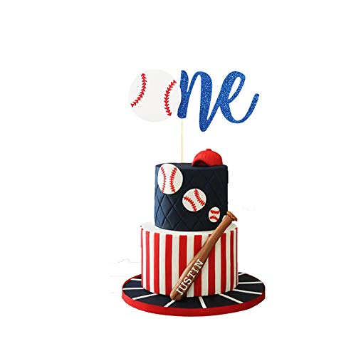 Baseball Cake Topper, Concessions Cake Topper, One Cake Topper, Sports Cake Topper, Baseball 1st Birthday Baby Shower Party Decorations Supplies