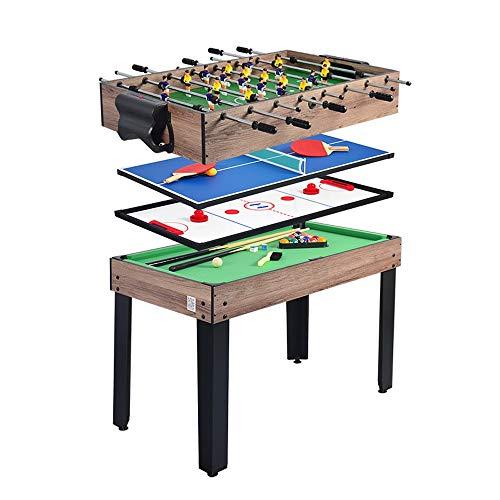 Piarner 4-in-1 Multifunktionstisch Billard/Tischtennis/Eishockey/Billiard Multiplayer Interactive Game Table 8-Bar Kicker Maschine Eltern-Kind-Interactive Freizeit Multi-Funktions-Tabelle