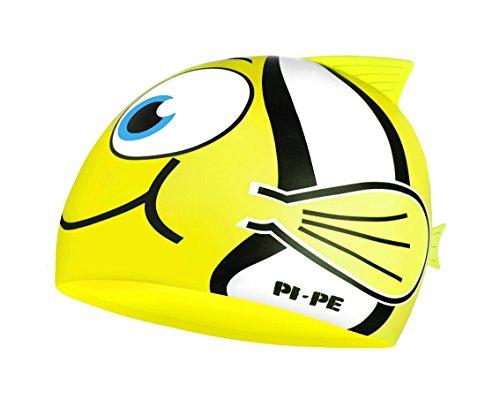 PI-PE Badekappe Fishy - Gorro de natación, Color Amarillo, Talla One Size
