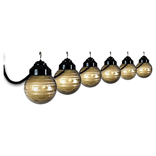 Polymer Products LLC 1632-77404 Black and Etched Bronze Six Globe String Light Set