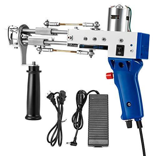 4YANG 2400 tr/min Pistolet à tapis électrique/Machine de tissage de tapis de pile de boucle 7-21mm,Accueil DIY Outils pour le tissage à grande vitesse de tapis (loop pile)