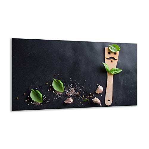 Fornuis afdekplaat keramische plaat specerijen zwart 1 stuk 90x52 kookplaten inductie