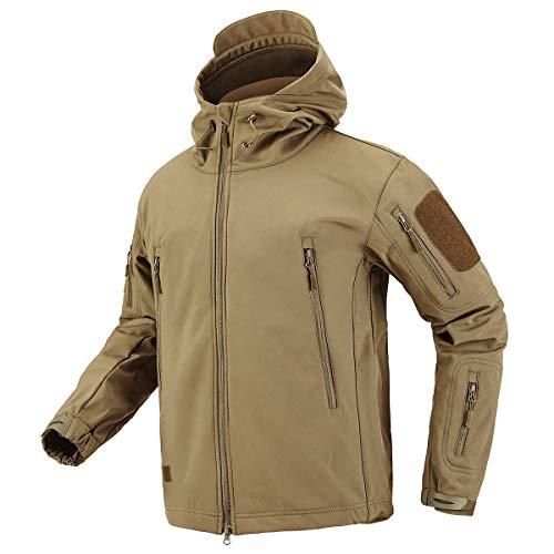 CARWORNIC Men's Outdoor Waterproof Soft Shell Hooded...