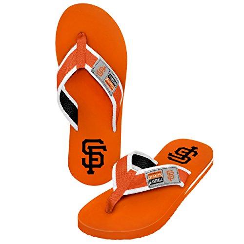 FOCO MLB Flip-Flops San Francisco Giants Locker Label Team-Farbe, Größe M