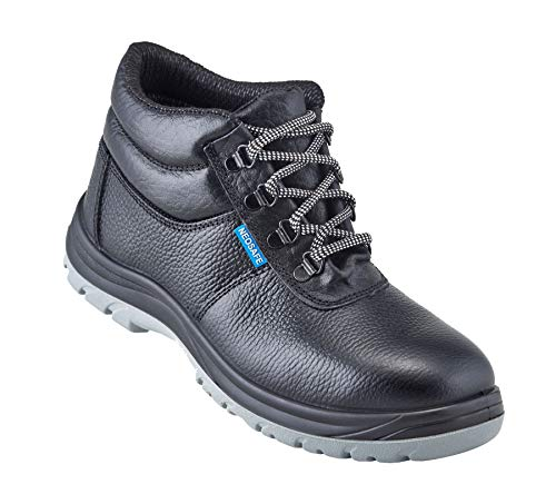 NEOSAFE A7025_9 Helix, High Ankle Safety Shoes with Steel Toe (9, Black)