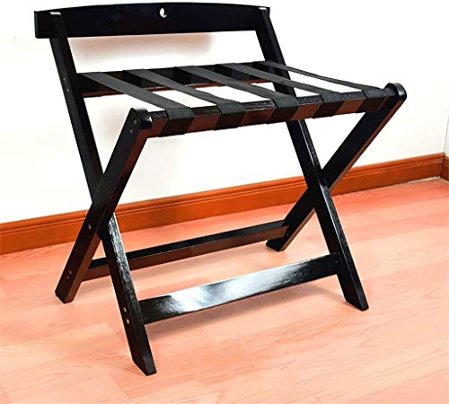 Check Out This HOMRanger Hotel Luggage Rack Solid Wood Luggage Rack, Hotel Bedroom Foldable Luggag...