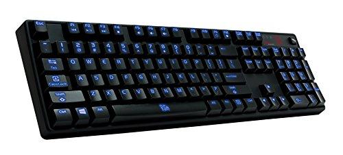 Thermaltake Tt e Sports Poseidon Z Blue Switches with 4-Level Brightness Blue LED Mechanical Gaming Keyboard KB-PIZ-KLBLUS-06